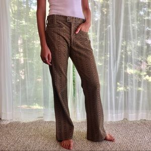 Patterned Corduroy Pants